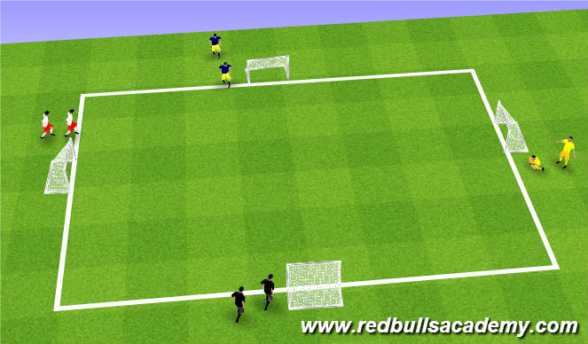 Football/Soccer Session Plan Drill (Colour): fully opposed world cup
