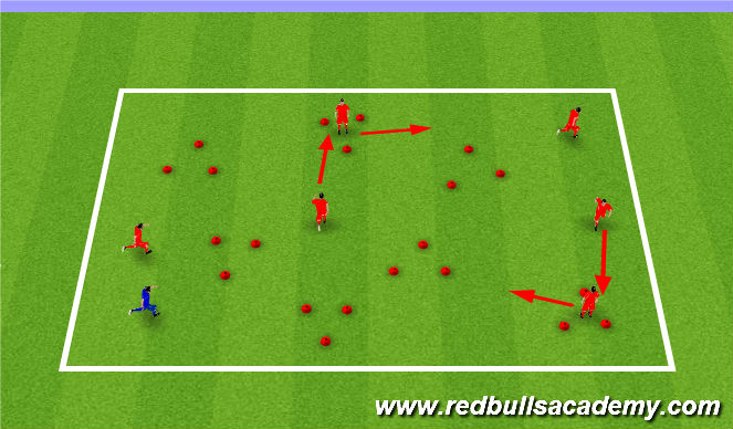 Football/Soccer Session Plan Drill (Colour): Triangle Tag