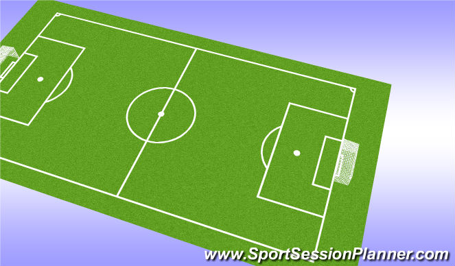 Football/Soccer Session Plan Drill (Colour): 4v4-7v7 Scrimmages