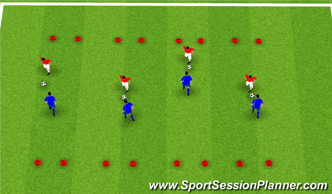 Football/Soccer Session Plan Drill (Colour): Defend your post