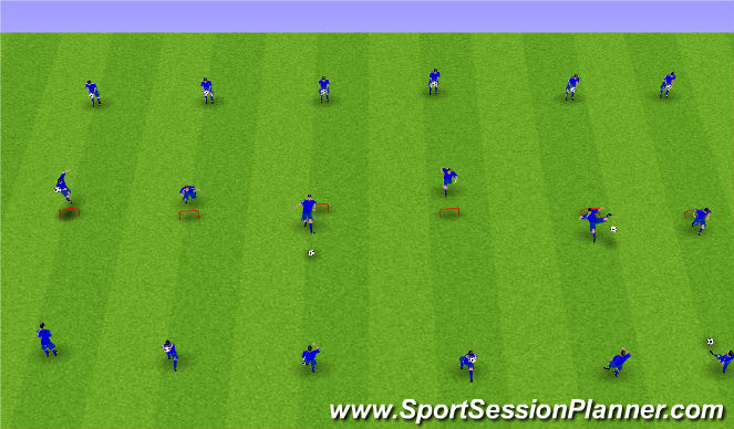 Football/Soccer Session Plan Drill (Colour): Líkamsþjálfun: