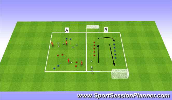 Football/Soccer Session Plan Drill (Colour): 2 activities