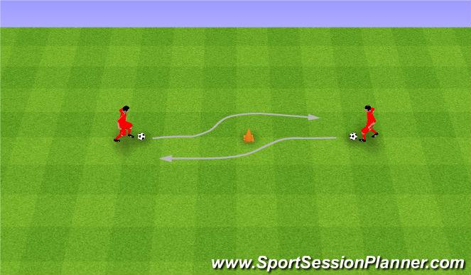 Football/Soccer Session Plan Drill (Colour): Step overs. Nad piłką.