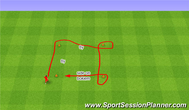 Football/Soccer Session Plan Drill (Colour): Agility. Zwinność.