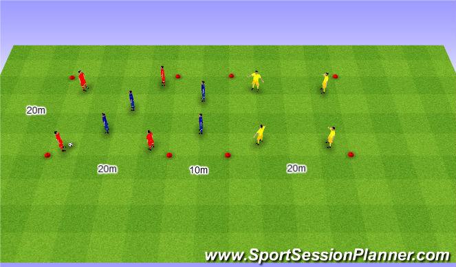 Football/Soccer Session Plan Drill (Colour): Rondo 4v4+4. Dziadek 4v4+4