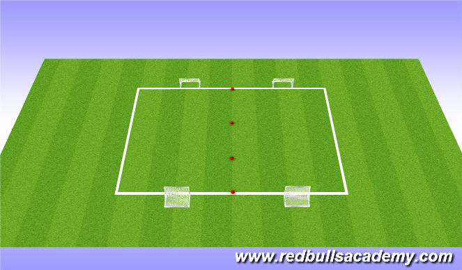 Football/Soccer Session Plan Drill (Colour): 3v3 games
