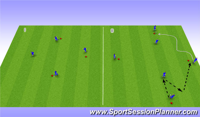 Football/Soccer Session Plan Drill (Colour): Tech. WU
