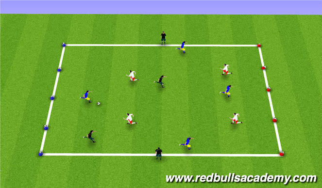 Football/Soccer Session Plan Drill (Colour): Coconuts