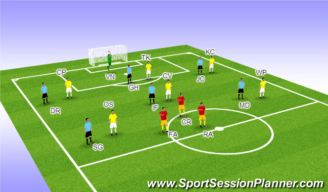 Football/Soccer Session Plan Drill (Colour): Teams
