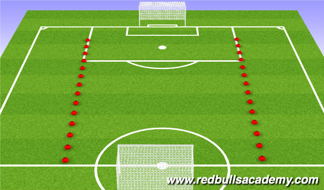 Football/Soccer Session Plan Drill (Colour): Phase/scrimmage