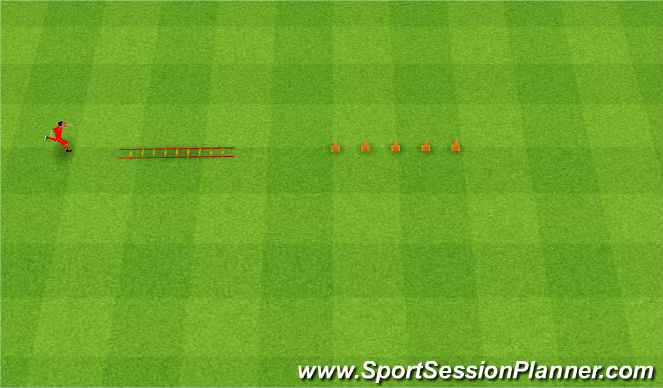 Football/Soccer Session Plan Drill (Colour): Assault course. Tor przeszkód.