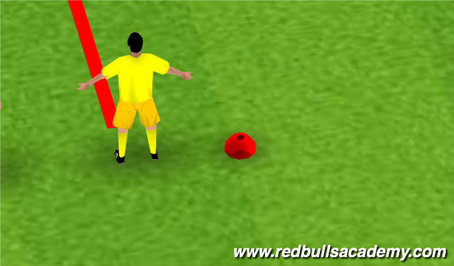 Football/Soccer Session Plan Drill (Colour): Ball Mastery