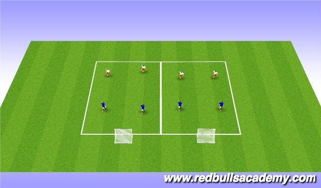 Football/Soccer Session Plan Drill (Colour): Main 3