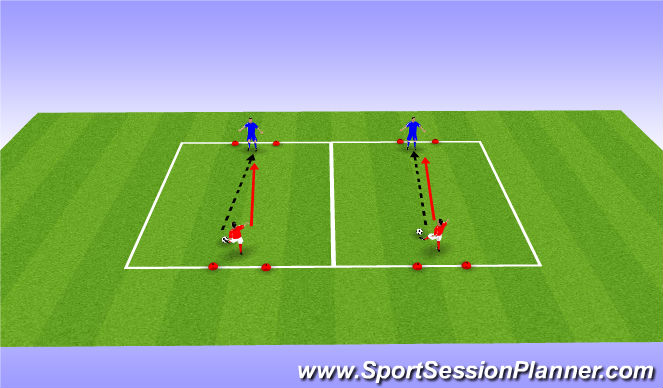 Football/Soccer Session Plan Drill (Colour): Def-Technique