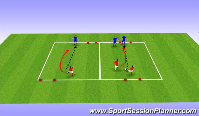 Football/Soccer Session Plan Drill (Colour): Variations