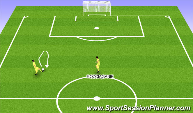 Football/Soccer Session Plan Drill (Colour): Rozgrzewka w parach.