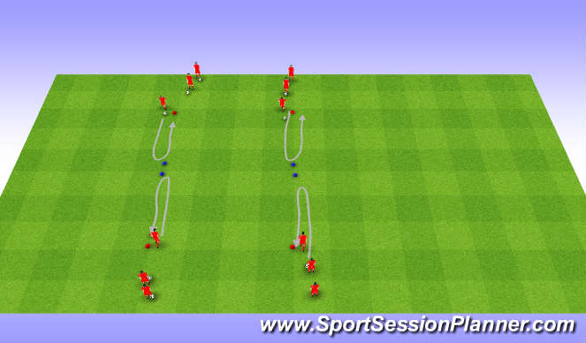 Football/Soccer Session Plan Drill (Colour): Intro 1