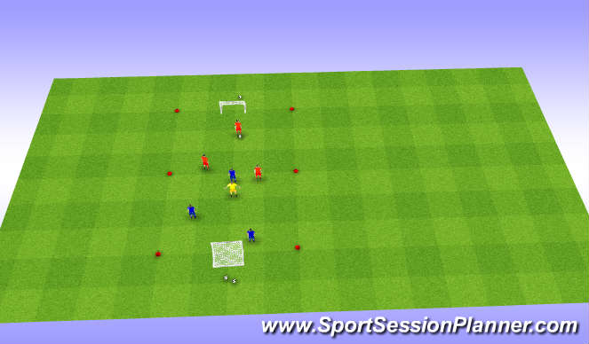 Football/Soccer Session Plan Drill (Colour): Wedstrijdvorm