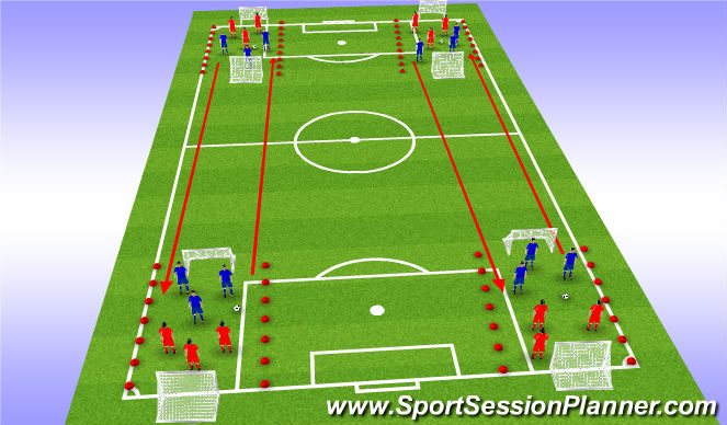 Football/Soccer Session Plan Drill (Colour): Game & Endurance