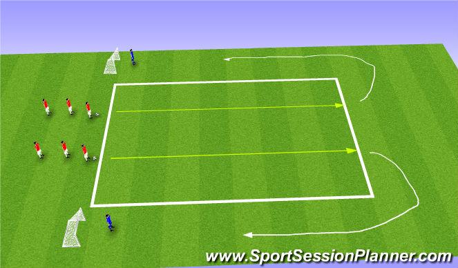 Football/Soccer Session Plan Drill (Colour): Skills Corridor Plus