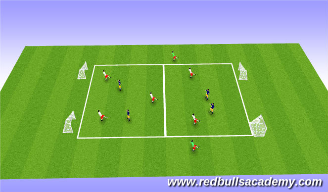 Football/Soccer Session Plan Drill (Colour): Main Act 1