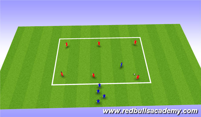 Football/Soccer Session Plan Drill (Colour): Oppoosed