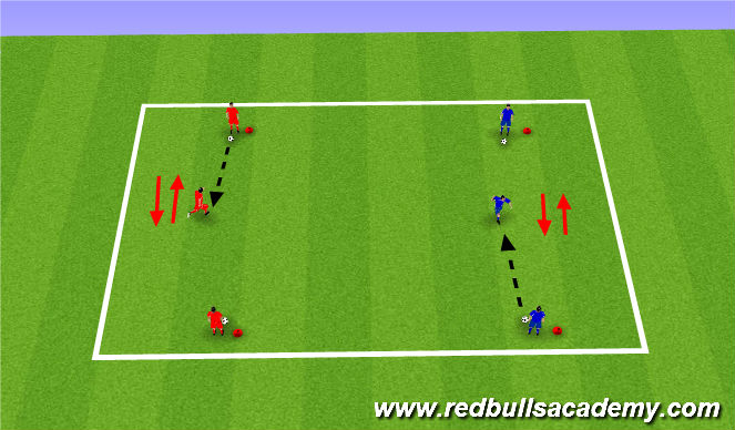 Football/Soccer Session Plan Drill (Colour): Control and Recieving