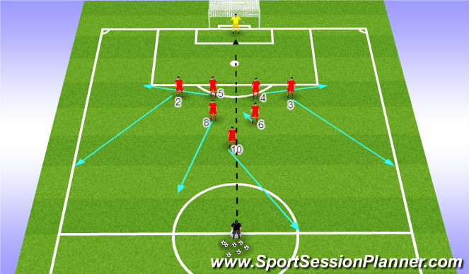 Football/Soccer Session Plan Drill (Colour): First Play
