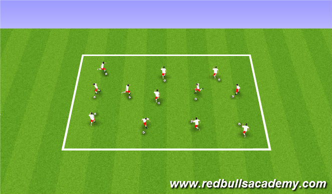 Football/Soccer Session Plan Drill (Colour): (Warm-up) Ball Mastery