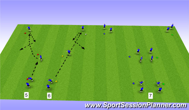 Football/Soccer Session Plan Drill (Colour): Y Drill 2