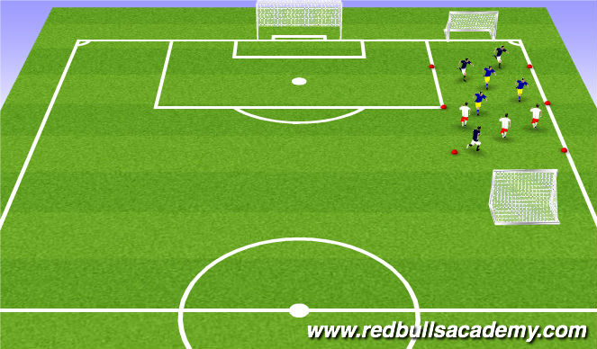 Football/Soccer Session Plan Drill (Colour): Possession 2