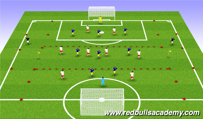 Football/Soccer Session Plan Drill (Colour): Play - 8v8+2