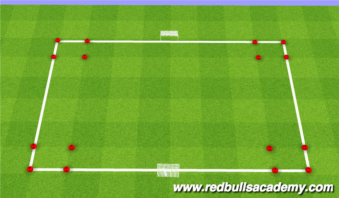 Football/Soccer Session Plan Drill (Colour): Receiving Conditioned Game