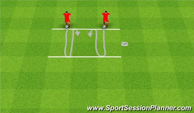 Football/Soccer Session Plan Drill (Colour): Linie równoległe.
