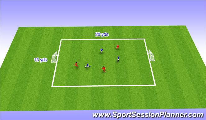 Football/Soccer Session Plan Drill (Colour): Festival game - 3v3