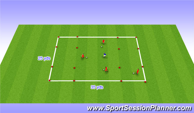 Football/Soccer Session Plan Drill (Colour): Small Sided Activity - Spiderman