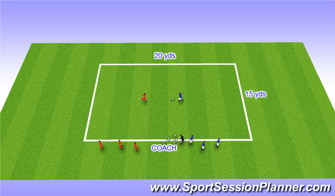Football/Soccer Session Plan Drill (Colour): Small Sided Activity - Get out of here!