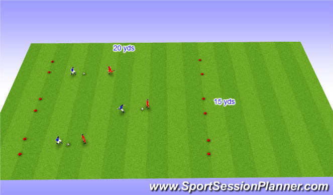 Football/Soccer Session Plan Drill (Colour): Expanded Small Sided Activity - Toss and chase
