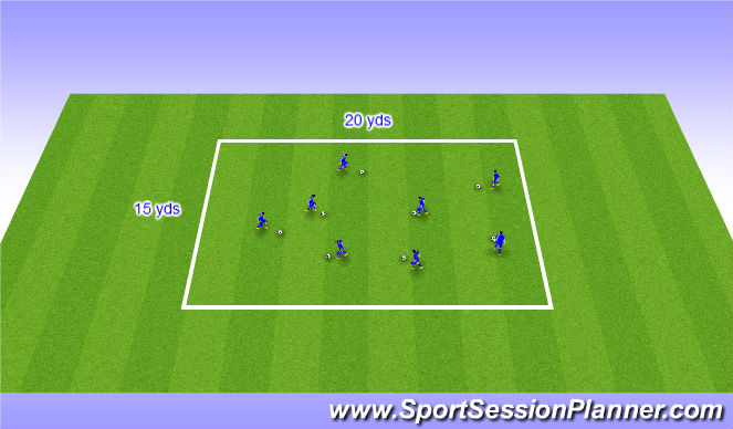 Football/Soccer Session Plan Drill (Colour): Red Light/Green light