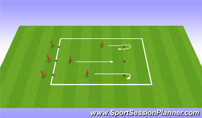 Football/Soccer Session Plan Drill (Colour): Warm up - Cone running