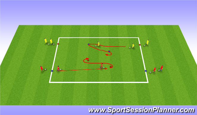 Football/Soccer Session Plan Drill (Colour): Activity 1 - two turns'