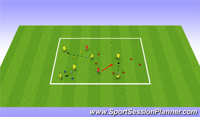 Football/Soccer Session Plan Drill (Colour): Activity 2 - gates passing