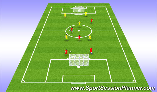 Football/Soccer Session Plan Drill (Colour): Game - 5v5