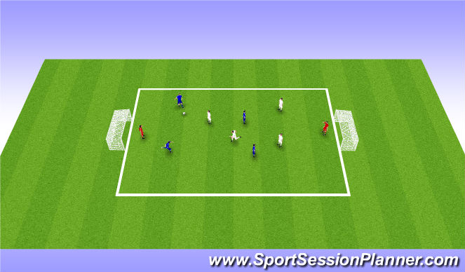 Football/Soccer Session Plan Drill (Colour): Game 5v5