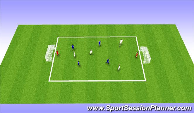 Football/Soccer Session Plan Drill (Colour): Game 5v5