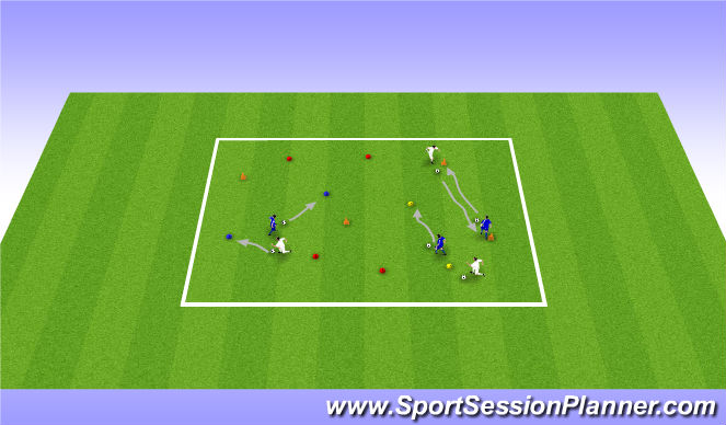 Football/Soccer Session Plan Drill (Colour): Activity 1 - follow the leader