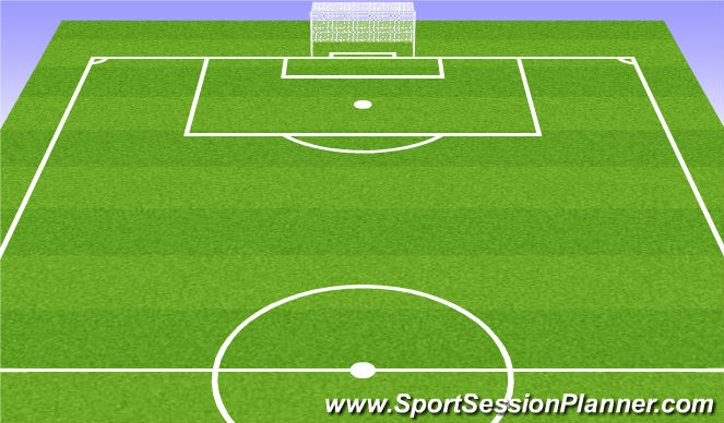 Football/Soccer Session Plan Drill (Colour): 7v7 game to big goals