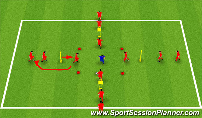 Football/Soccer Session Plan Drill (Colour): 4v1 Rondo