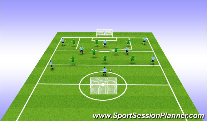 Football/Soccer Session Plan Drill (Colour): 8v8 match