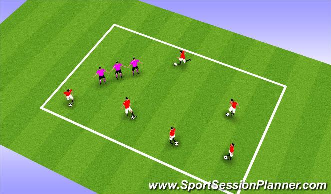 Football/Soccer Session Plan Drill (Colour): Blob Tag